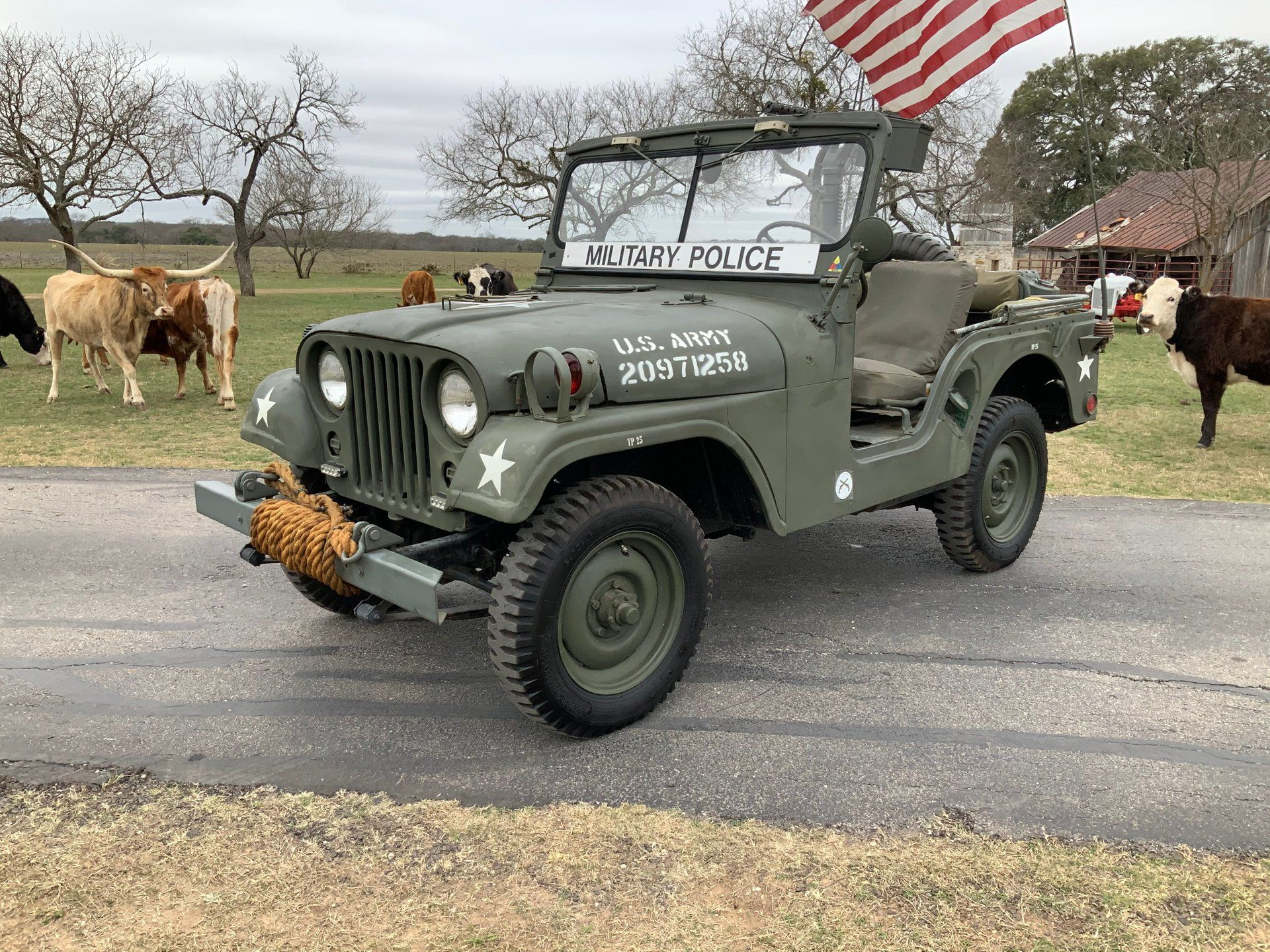 Show Your Patriotism And Buy This 1955 Willys Jeep M38A1