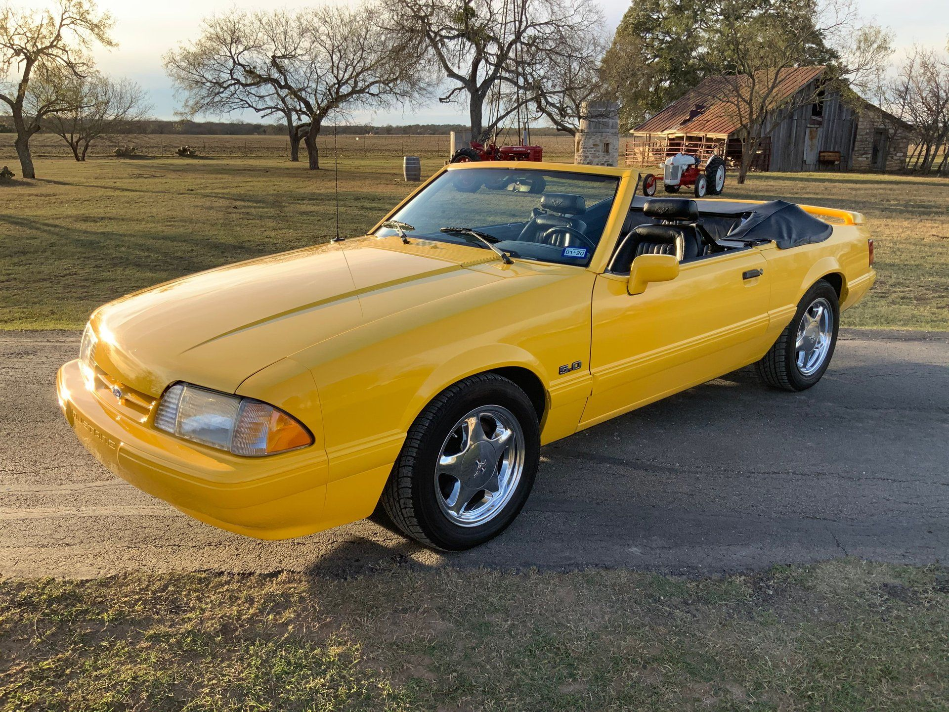 "<img src=""1993-ford-mustang-feature.jpg"" alt=""A rare 1993 Ford Mustang LX convertible feature car in Canary Yellow"">"