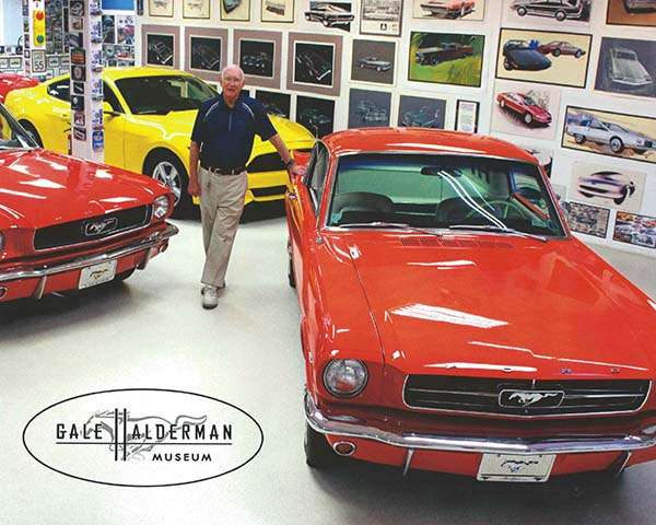 "<img src=""gale-museum.jpg"" alt=""Gale Halderman at the museum he created about the Ford Mustang design"">"
