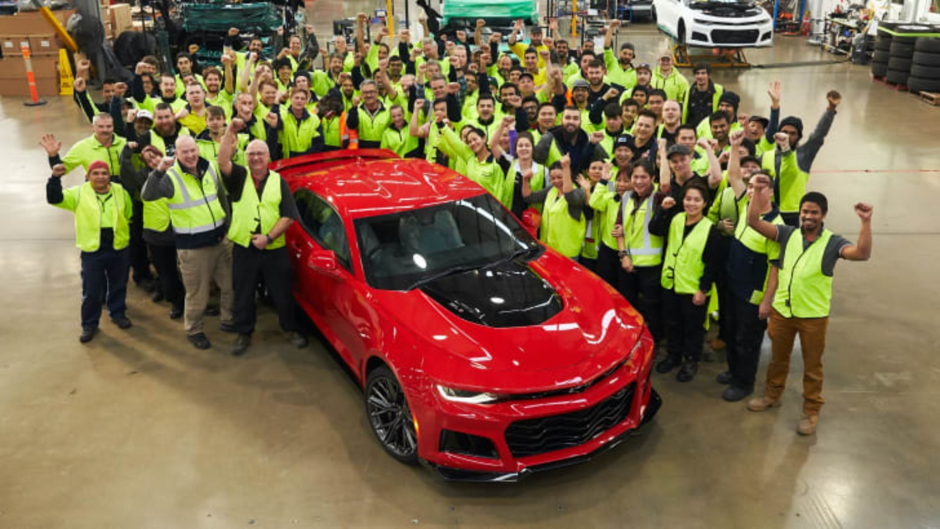 Chevy Camaro Runs Out Of Road In Australia