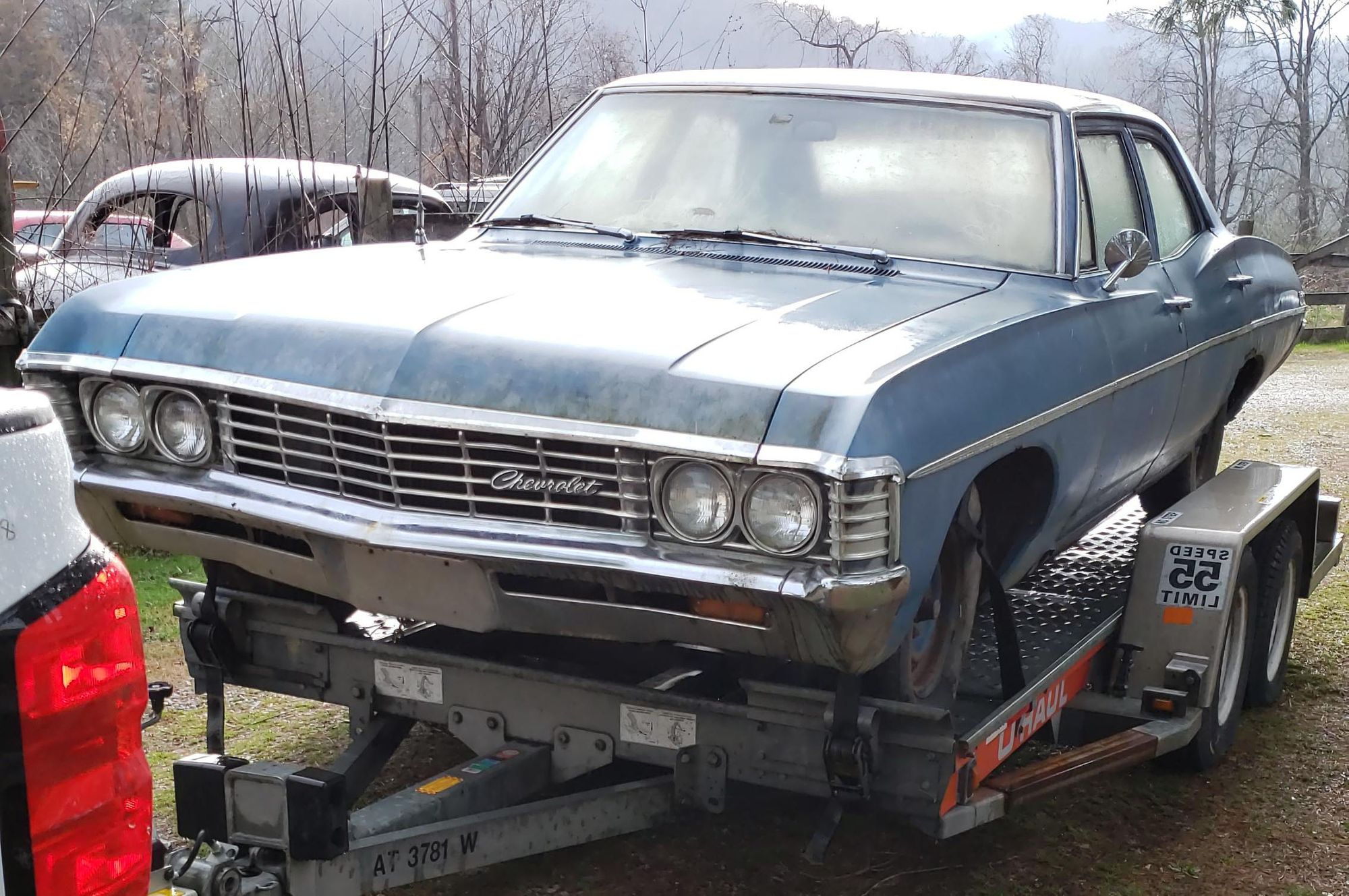 "<img src=""1967-impala.jpg"" alt=""Girlfriend took boyfriend's 1967 Chevrolet Impala to the junkyard"">"