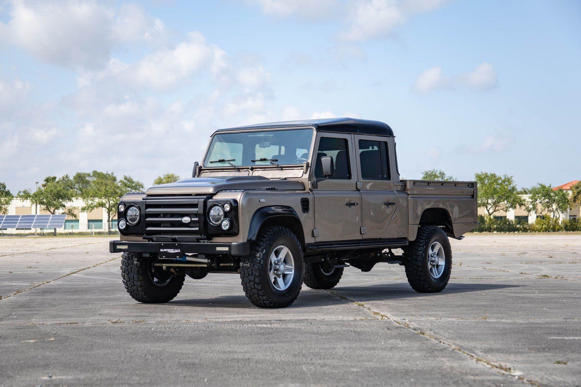 """<img src=""""1997-land-rover-defender-90.jpeg"""" alt=""""A custom 1997 Land Rover Defender 90 turned into a 130"""">"""