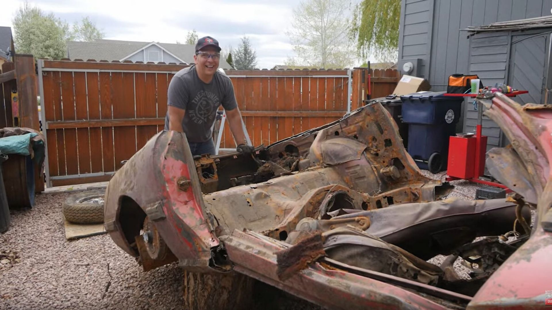 Watch The Mazda RX-7 Recovered From River Get Chopped Up