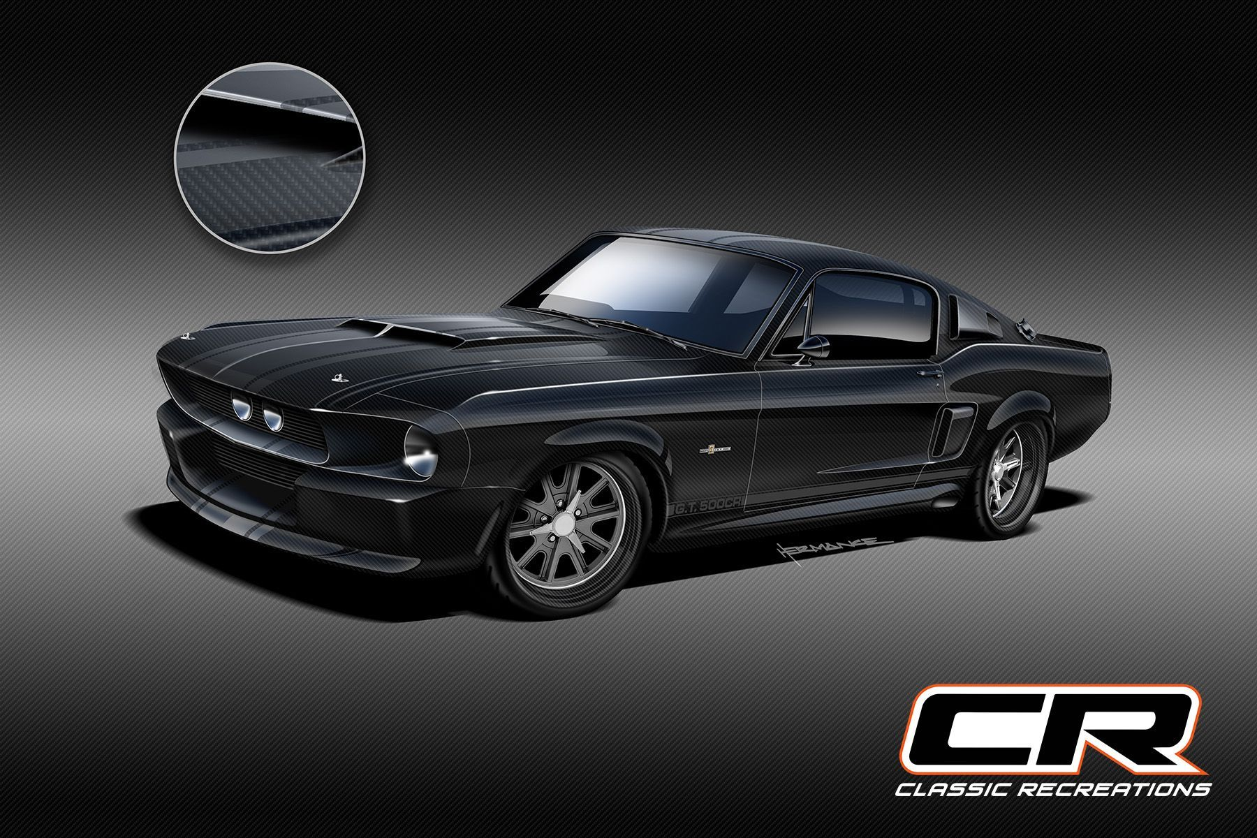 """<img src=""""classic-recreations-shelby.jpeg"""" alt=""""An all-new carbon fiber-bodied 1967 Shelby GT500CR by Classic Recreations and SpeedKore"""">"""