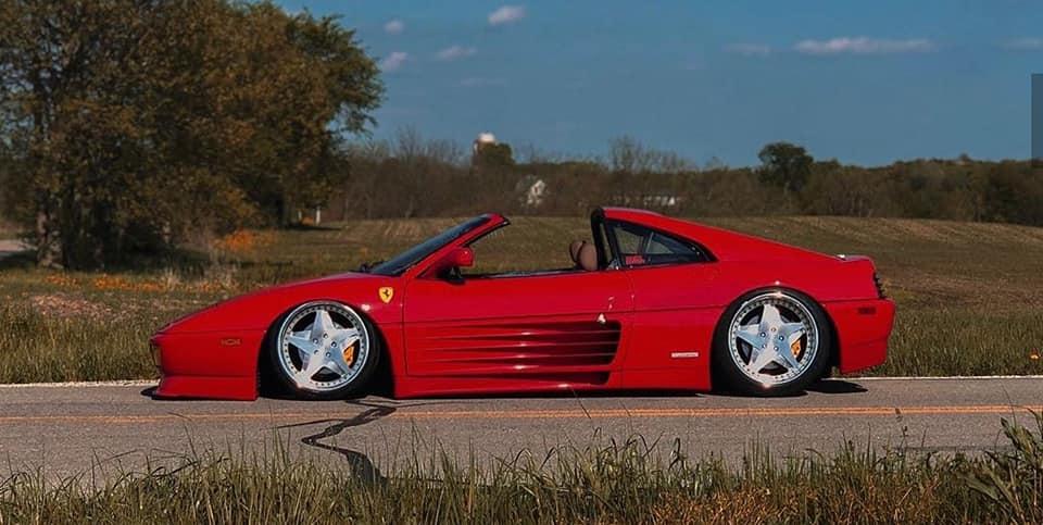 "<img src=""ferrari-profile.jpg"" alt=""A 1991 Ferrari 348 TS sitting on air suspension"">"
