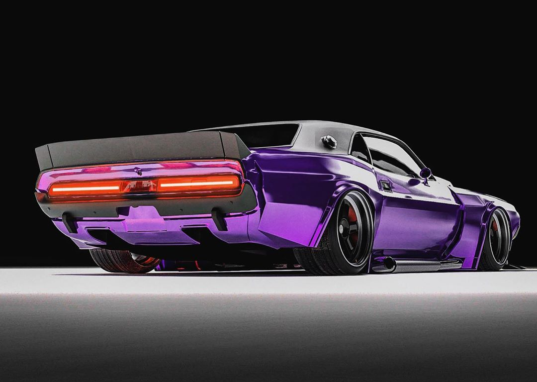 "<img src=""1970-challenger-purple-rear.jpg"" alt=""1970 Dodge Challenger build heading to SEMA"">"