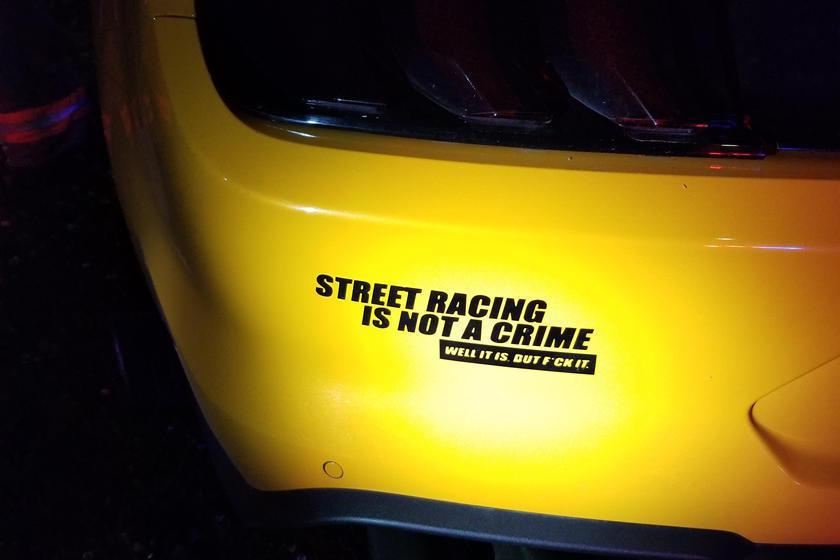 """<img src=""""mustang-sticker-2.jpg"""" alt=""""Street racing bumper sticker"""">"""