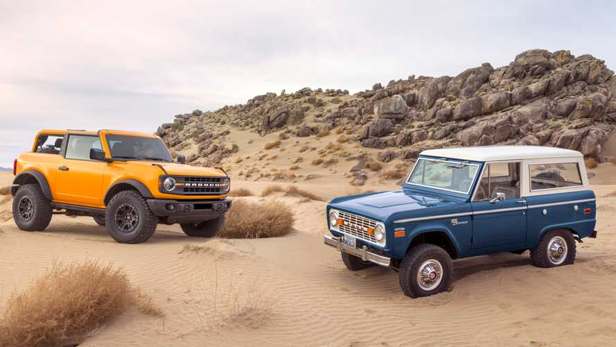 """<img src=""""2021-ford-bronco-and-1966-ford-bronco.jpg"""" alt=""""The 2021 Ford Bronco next to the first-year 1966 Bronco"""">"""