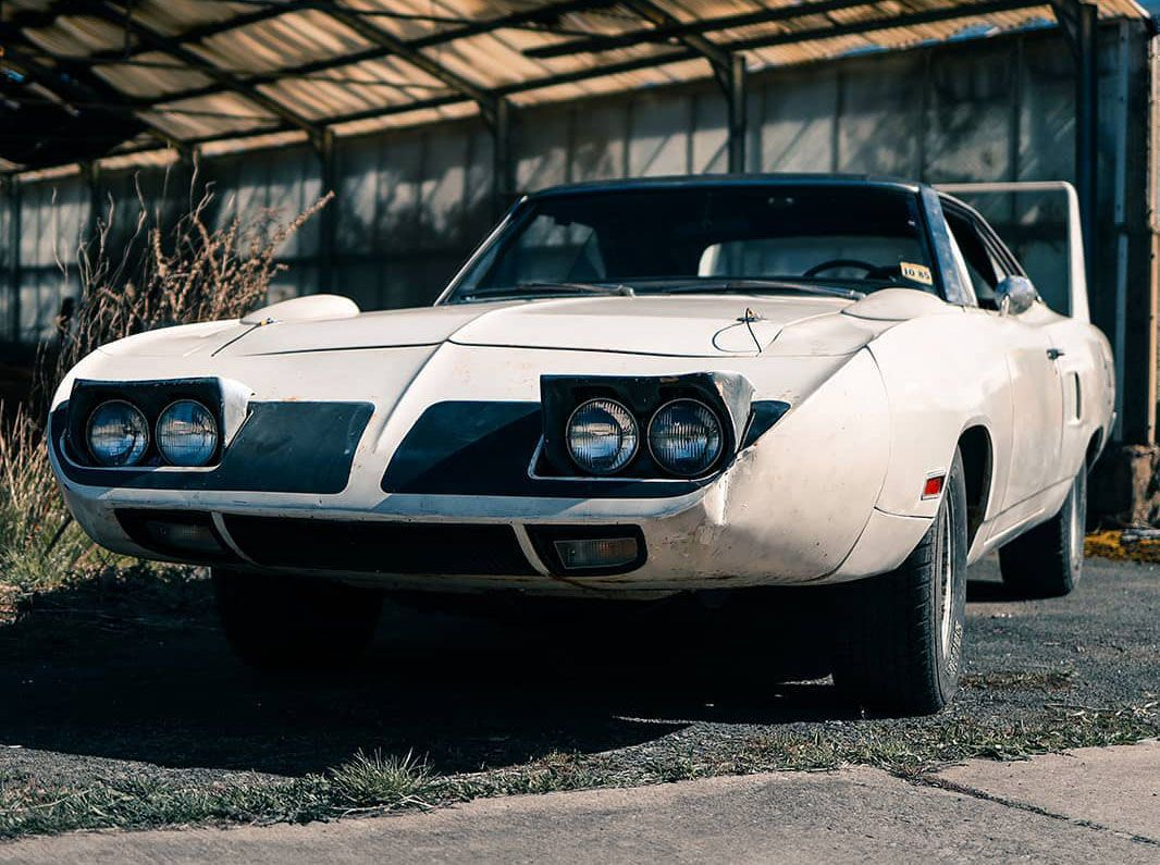 "<img src=""plymouth-superbird.jpg"" alt=""A rare and unrestored 1970 Plymouth Superbird for sale"">"