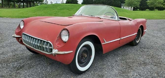 Ebay Find 1954 Chevrolet Corvette Barn Find Project