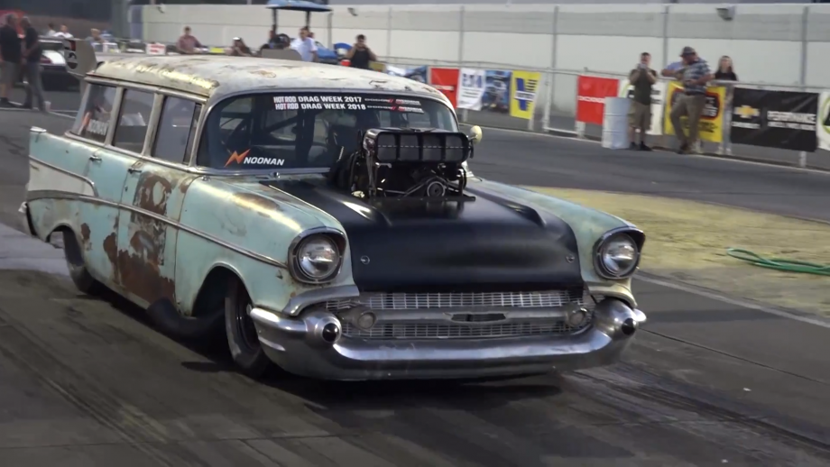 """<img src=""""1957-chevy-wagon-2.png"""" alt=""""The 1957 Chevrolet Wagon involved in crash with NHRA drivers"""">"""