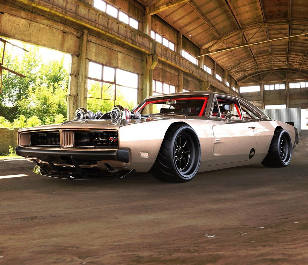 """<img src=""""dodge-charger-boost-bomb.jpg"""" alt=""""A 1969 Dodge Charger R/T virtual build named Boost Bomb"""">"""