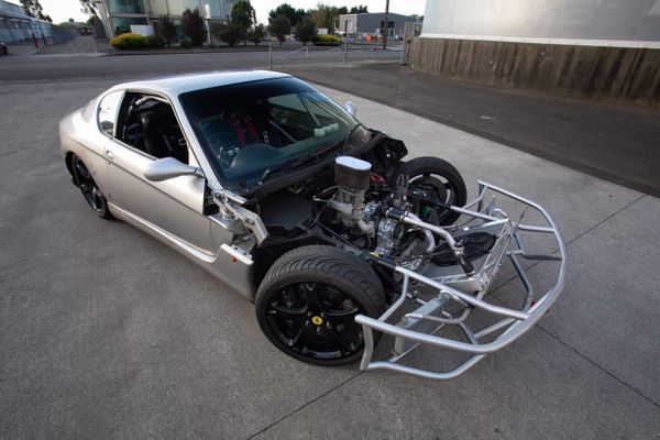 Totaled Ferrari 456 Turned Into Rotary-Powered Drift Car