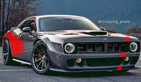 Modern Plymouth 'Cuda Rendered