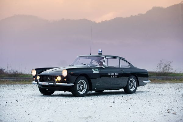 Back The Blue In This 1962 Ferrari 250 GTE Police Car