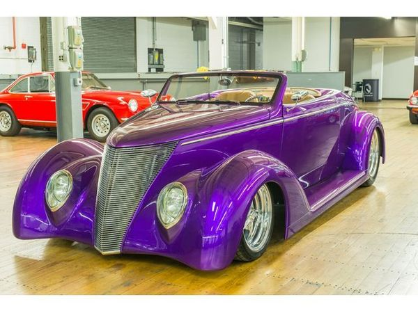 Vivid 1937 Ford Roadster Packs A Potent LS6 Punch
