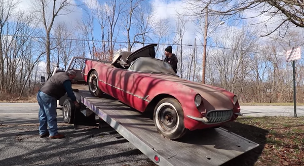 Rare 1954 Corvette Barn Find Sees Daylight For First Time In Half A Century