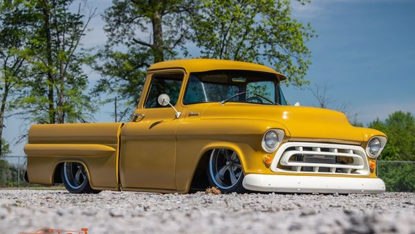 Restomod 1957 Chevy 3100 Rides Low And Hard