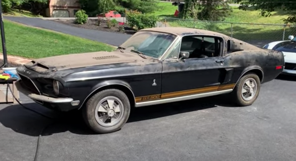 1968 Shelby GT500 Mustang Emerges From Warehouse After 20 Years