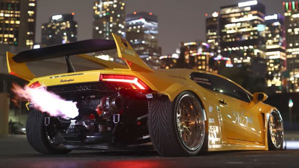 Liberty Walk Twin-Turbo Lamborghini Huracan Breathes Fire