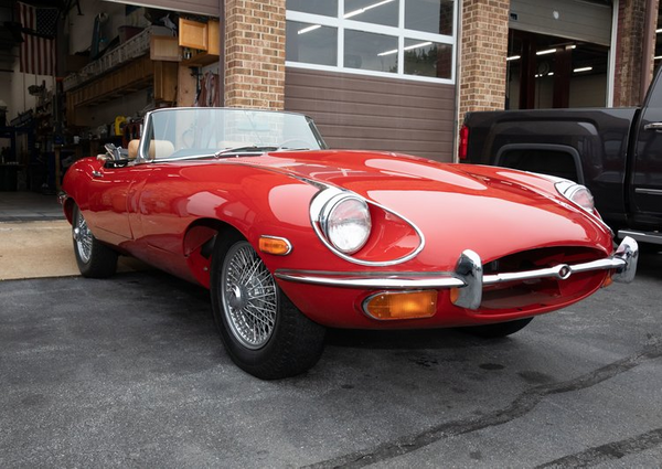 Paint The Town Red In An Elegant 1969 Jaguar XKE II Roadster
