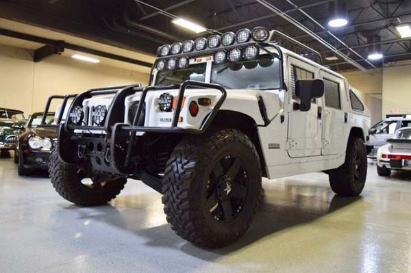 Light Up The Night In This Slantback Hummer H1