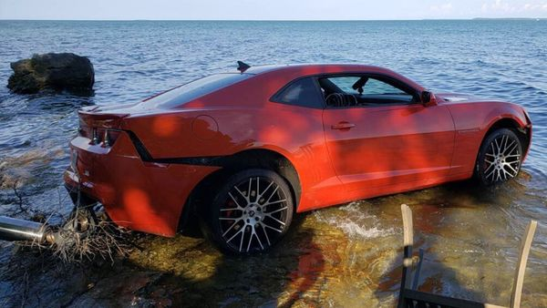 NFL Player Crashes Chevy Camaro Into Lake Erie