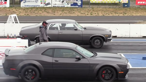 Watch A Dodge Demon Race Classic Muscle Cars