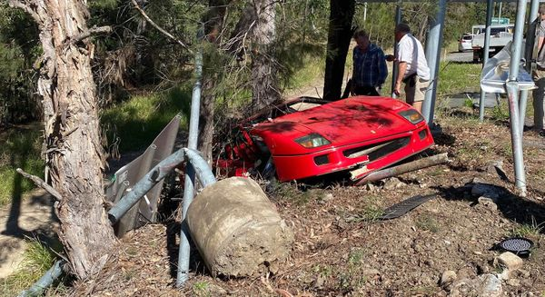 Gut-Wrenching Carnage From A Recently Wrecked $2.3M Ferrari F40