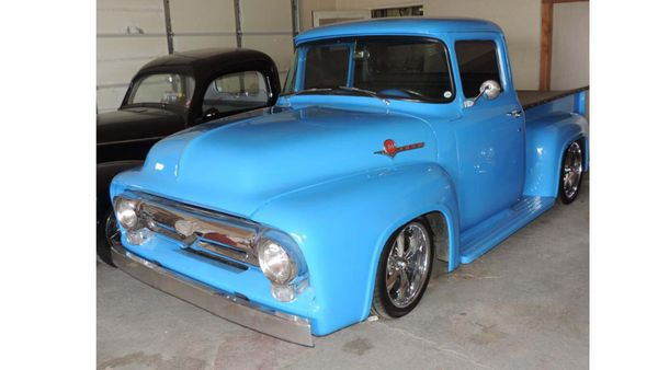 Grabber Blue 1956 Ford F-100 Restomod Commands Attention