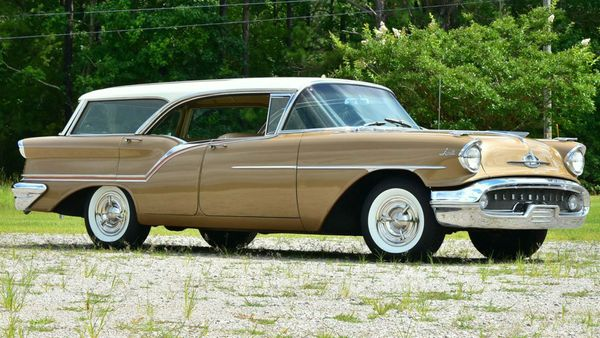 Take A Family Fiesta In This 1957 Oldsmobile Super 88 Station Wagon