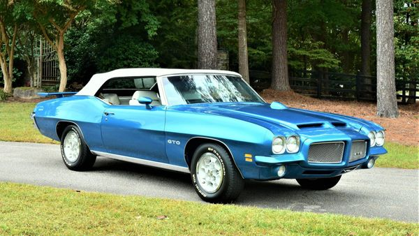 1971 Pontiac GTO Convertible Is Rare Poncho Muscle