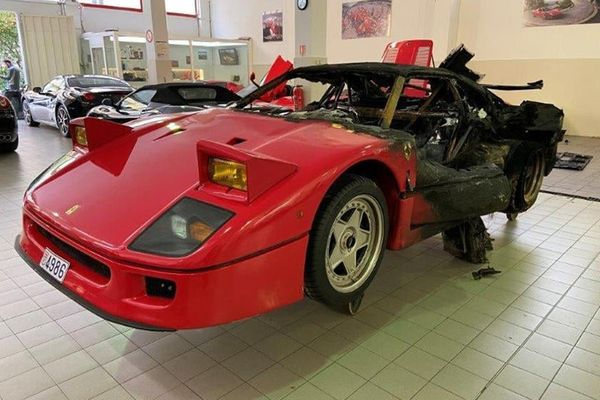 Charred Ferrari F40 From Monaco To Be Completely Rebuilt And Restored