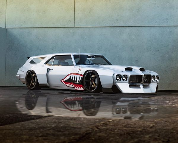 This Pontiac Firebird 'Shark Mouth' Wagon Is A Wild Wide-Body