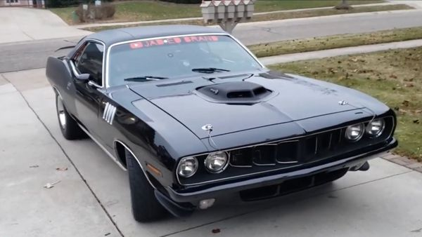 Someone Dropped A Hellcat Into This 1971 Plymouth 'Cuda