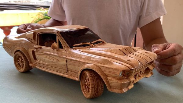 Watch This Guy Make A 1967 Shelby GT500 Out Of Wood