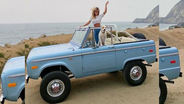Sydney Sweeney Drives A Sweet First Generation Ford Bronco