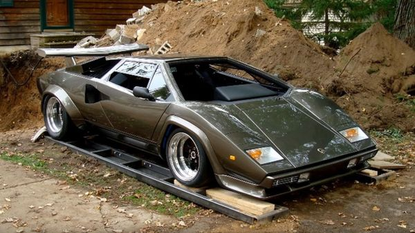 A Man Built A Lamborghini Countach In His Basement