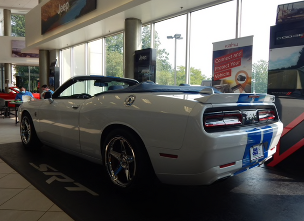 Chase the Sun in a Drop-Top Challenger Hellcat