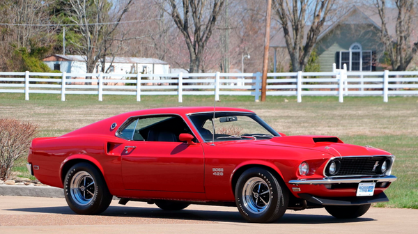 Candy Apple Red 1969 Boss 429 Mustang