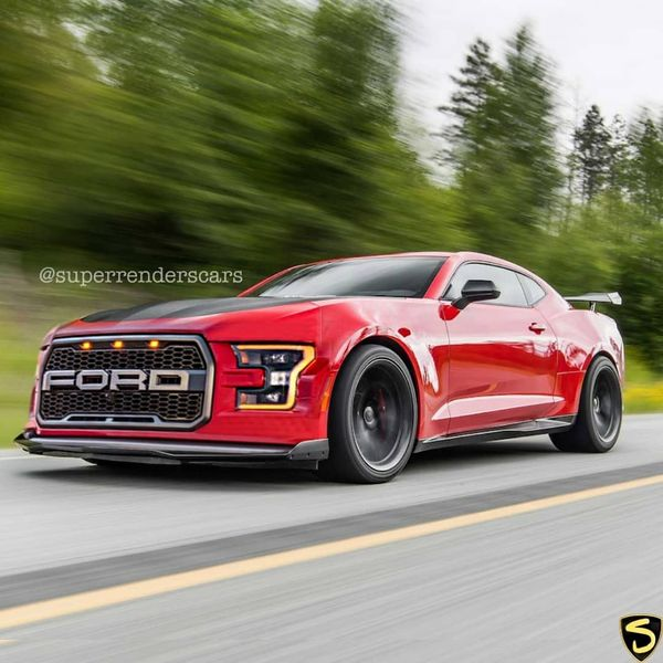 Photoshop Master Combines Raptor and Camaro