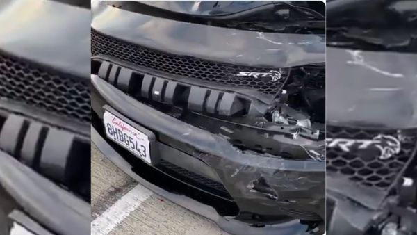 Rapper Crashes Dodge Hellcat