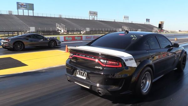Watch American Muscle Cars Race European Exotics