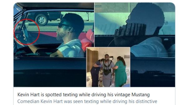 Kevin Hart Drives Classic Mustang Distracted