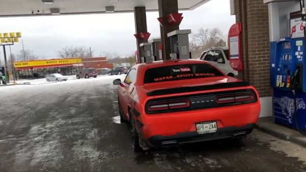 Driving Muscle Cars In Snow Is An Adventure