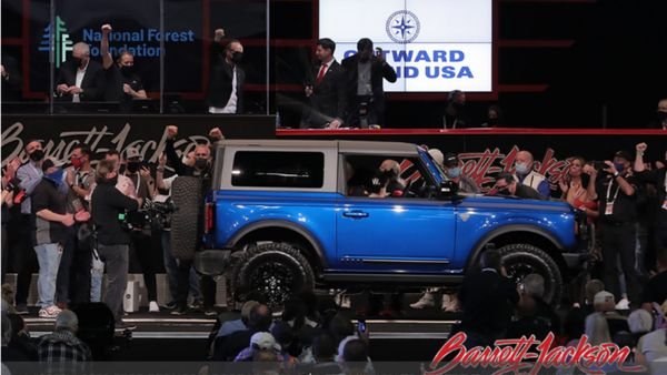 2021 Ford Bronco First Edition Auctions For $1.1 Million